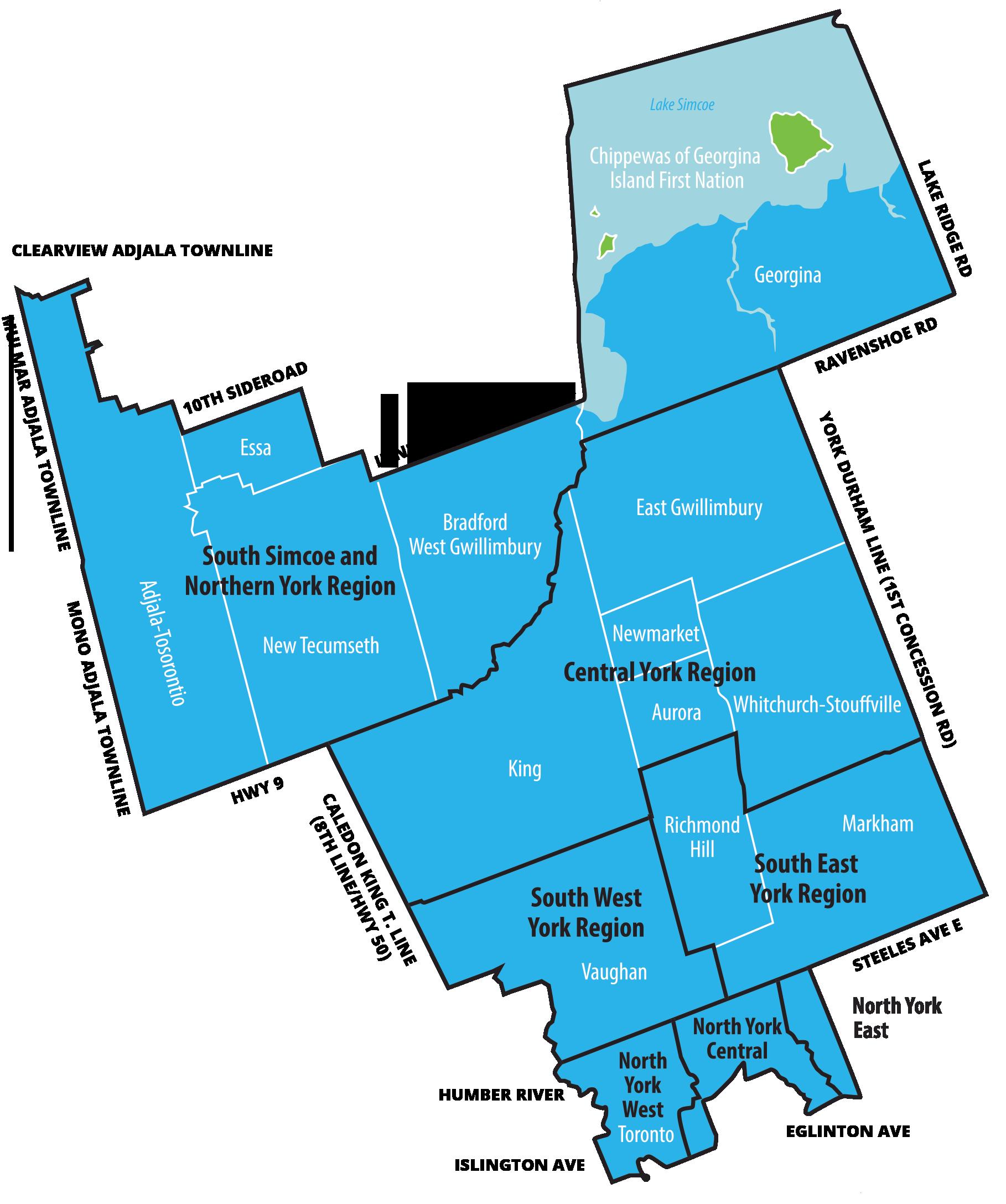 LHIN map
